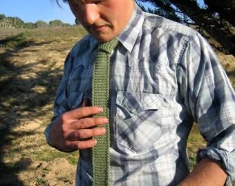 CUSTOM - Hand Knit Necktie - Mens or Womens
