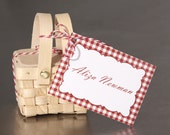 Wedding Place Cards  - Picnic Favor Tag - Escort Cards Custom Designed, Wedding Paper Goods