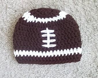 Baby Football Hat, Newborn Football Hat, Football Beanie Hat, Toddler Football Hat, Football Hat, Baby Boy Hat, Baby Girl Hat