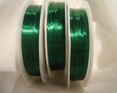 22 Gauge 20 Feet of Green - Colored Copper Wire for Jewelry Work: Coil, Head Pins, Charms and so much more