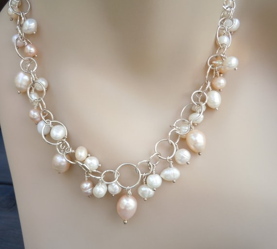 Wedding or Special Event or Just Cause you LOVE PEARLS Statement Necklace