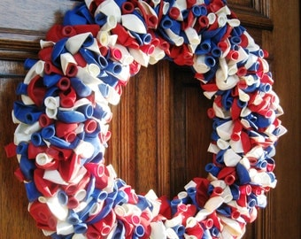 "20"" America Patriotic Birthday Party Celebration Balloon Wreath"