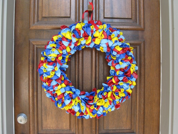 "20"" Superman Superhero Birthday Party Celebration Balloon Wreath"