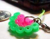 Cool Watermelon Slice Perler Bead Phone Charm or Zipper Pull