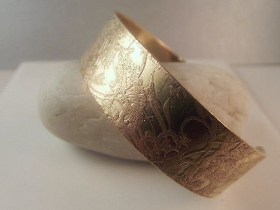 Brass Bracelet- Brass Cuff Bracelet/ Brass Cuff/  Artisan Vintage Handcrafted  Designer Jewelry B-392