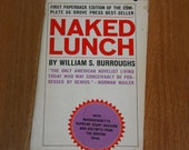 William S Burroughs Naked Lunch Banned Book 1966 1960s Black Cat Edition Beat Literature Ginsberg Corso Kerouac