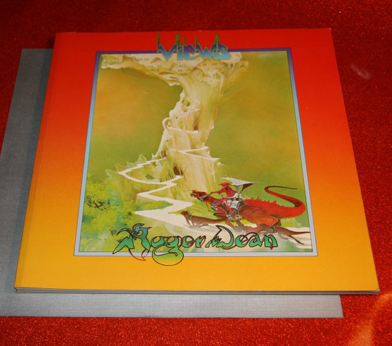 Coffee Book Album: 1960s 1970s 1975 Roger Dean Views Coffee Table Art Book
