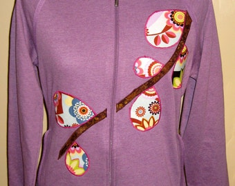 SALE - Fitted Women's Applique Sweatshirt; Size Large