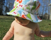Dino Dots Reversible Baby Hat and Board Shorts for lmomdmk ONLY