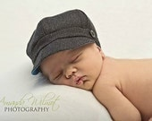 Fall Newsboy Cap Baby Toddler Boy Hat / Photo Prop / Wedding / Newborn Pageboy Ring Bearer