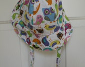 Bird Owl Baby / Toddler Summer Sun / Beach Hat Girl