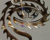Rustic metal art Tool eye