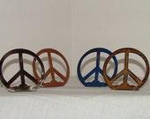 metal art peace sign