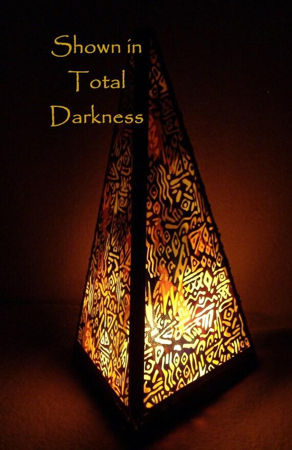 Lamp Pyramid Egyptian Hieroglyphics Meditation Lamp Nightlight