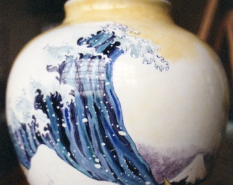 Hosukai Vase - Porcelaine handpainted according to the Limoges technique