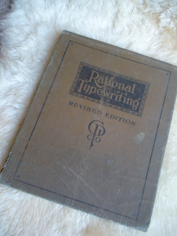 Rational Typewriting 1916 lesson book Gregg