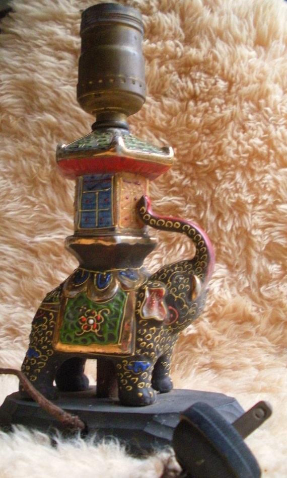 1950's Elephant Lamp
