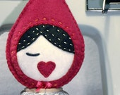 Little Red Riding Hood mini plush - nursery decoration