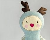 plush Deer Girl - soft art doll, children toy