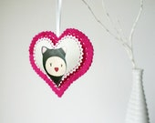 Valentine's heart decoration - Cat Girl
