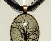 """Original Art Glass Pendant Necklace """"Majestic Oak"""""""