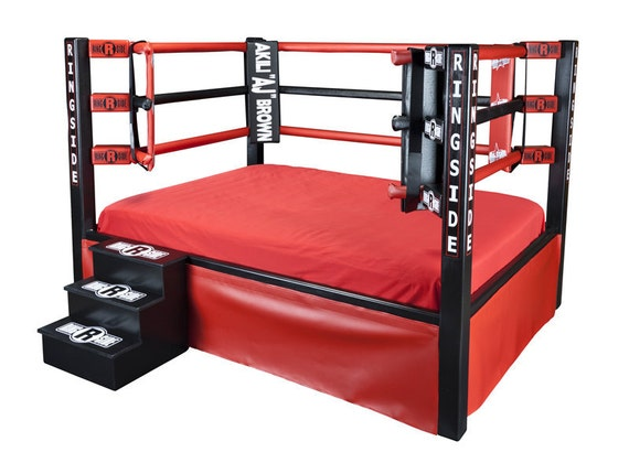Items Similar To Boxing Ring Bed Twin Full Queen King Sports Themed Furniture On Etsy