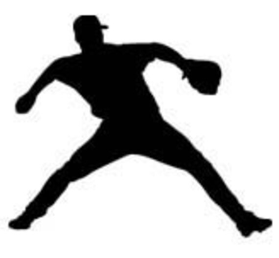 4' Baseball Pitcher Player Vinyl Wall Decal Sticker