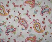 Barn Dandy paisley on white fabric 1 yard Robert Kaufman