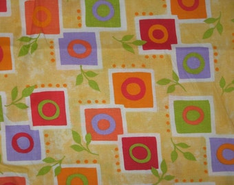Yellow geometric fabric 1 yard
