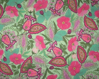 Xanadu by Max and Nobie for Moda green floral fabric 1 yard 10""