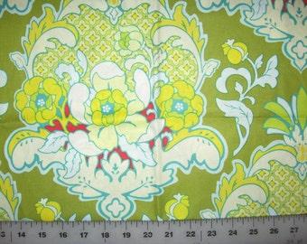 Heather Bailey Pop Garden Pineapple Brocade Celery 1 yard