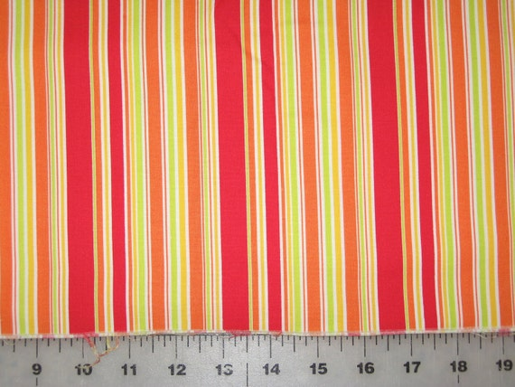 "Funky Monkeys stripe by Erin Michael for Moda 35"" remnant"
