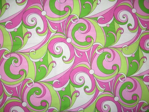 Michael Miller pink lime groovy swirls 34 X 22