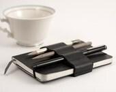 Mini Bandolier // alt pencil case // black leather