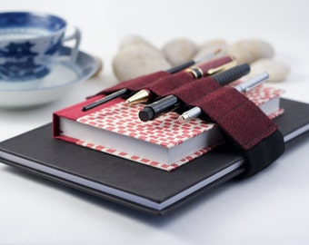 Adjustable Bandolier / pencil case upgrade / Red Speckles