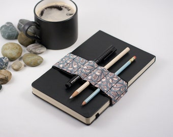 Journal Bandolier // petal // (a better pencil case, journal pen holder, book strap, pen loop, pencil roll, pen bandolier)