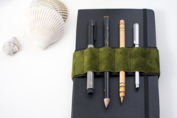 Back to School / Journal Bandolier / Green Suede