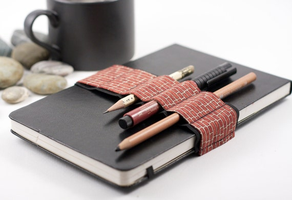 Journal Bandolier // brickhouse // (a better pencil case, journal pen holder, book strap, pen loop, pencil roll, pen bandolier)