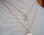 Double stranded. Customized hand stamped double strand gold filled necklace