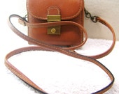 Small Leather Bag or Purse with Shoulder Strap