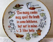 Too Many Cooks Decorative Wall Plate