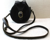 Leather Flask Case - Circular Flask - Round Flask