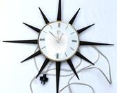 Vintage Smiths Starburst Wall Clock