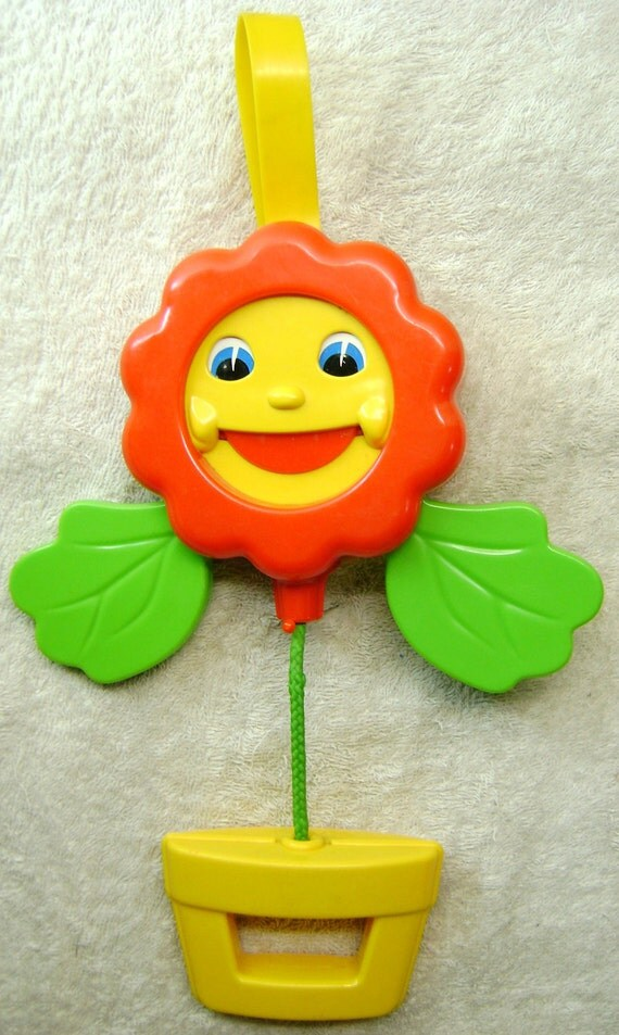 Squeaky Flower Toy by Matchbox - Pram or Cot