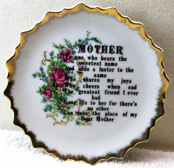 Mothers Day Plate - Mother - The one who bears the sweetest name