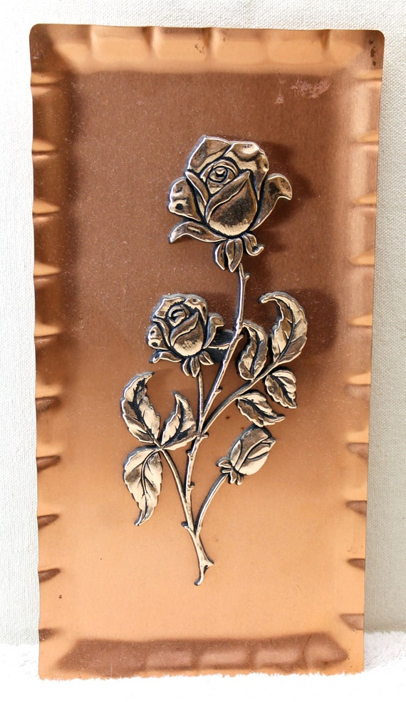 Copper Rose Wall Hanger - Made in Germany