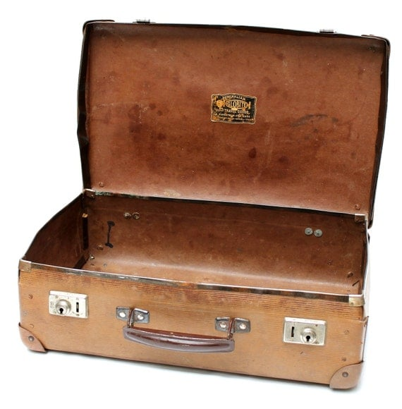 vintage childrens suitcase or childrens luggage