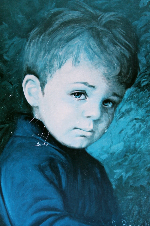 Vintage Crying Boy Print Bragolin S Crying Boys