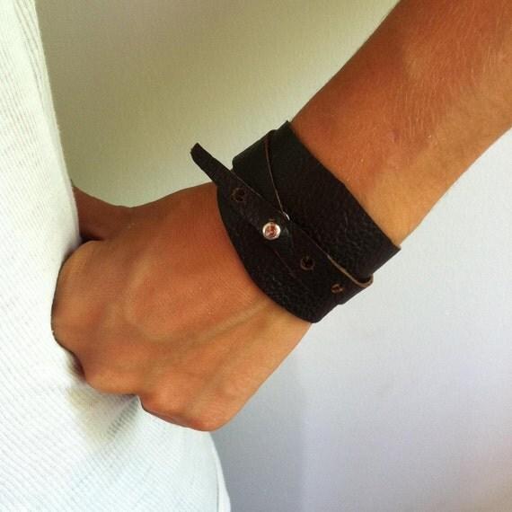Wrap Around Leather Cuff Bracelet