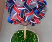 Custom Handmade Ribbon Topiary to Match Your Event